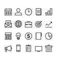 business outline icon set vector image