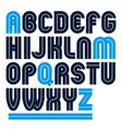 capital bold english alphabet letters made with vector image vector image