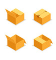 cardboard package boxes isometric open empty pack vector image vector image
