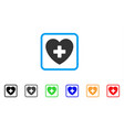 cardiology framed icon vector image vector image