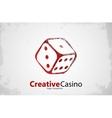 Casino logo Dice logo Casino club poster vector image