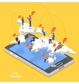 Chat online isometric flat concept vector image