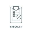 checklist line icon checklist outline vector image
