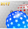 christmas background with decorated baubles and vector image vector image
