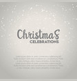 christmas celebrations snow background vector image