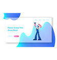 cleaning service website landing page male vector image