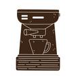 coffee brew method espresso machine and cup vector image vector image