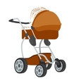 Colorful of baby stroller vector image vector image