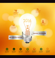 Creative light bulb idea 2016 New Year vector image vector image