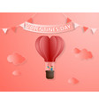 creative love invitation card valentines day vector image