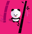 cute cartoon panda in bamboo forest vector image vector image