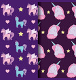 cute unicorn of fairy tale patterns vector image vector image
