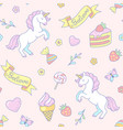 cute unicorns pattern vector image vector image