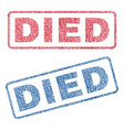 died textile stamps vector image