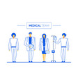 doctor nurse medical team clinic healthcare staff vector image vector image