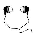 Earphones Silhouette vector image