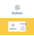 flat blast logo and visiting card template vector image vector image