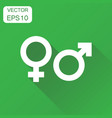 gender sign icon business concept men and women vector image vector image