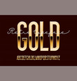 gold metal alphabet vector image