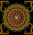 greek colorful seamless mandala pattern greek vector image vector image