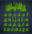 green slime font set vector image vector image