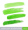 Green Watercolor Brush Strokes for your design vector image