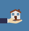hand with home vector image