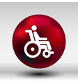 handicap handicapped chair wheel accessible an vector image vector image
