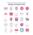home automation icon dusky flat color - vintage vector image