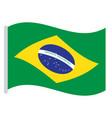 isolated brazilian flag vector image vector image
