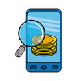 isolated money icon set design vector image vector image