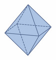 isolated octahedron vector image vector image