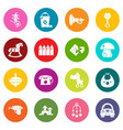 kindergarten icons set colorful circles vector image