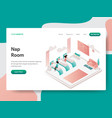landing page template nap room concept vector image vector image