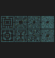 maze arcade game rectangle labyrinth puzzle vector image vector image