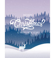 merry christmas happy new year calligraphy land vector image
