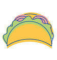 mexican tacos fast food icon vector image vector image