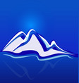 mountain blue landscape background vector image vector image