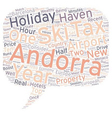 New Airport Boost For Andorra text background vector image vector image