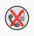 no cell phones allowed crossed out sign mobile vector image vector image