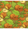 nut seamless 2 380 vector image vector image
