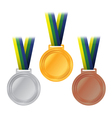 Olympic Medals Rio Brazil vector image
