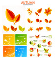 orange and yellow autumn seasonal leaves vector image