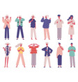 people negative rejection gestures body non verbal vector image vector image