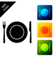 plate fork and knife icon isolated on white vector image vector image