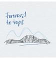 Poster forward to tops Mountains logo vector image vector image