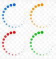 preloader buffer shapes symbols fading vector image vector image