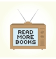 Read more books retro television vector image vector image