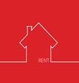 rent house in red vector image vector image
