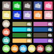 Rent icon sign Set from twenty seven multicolored vector image vector image